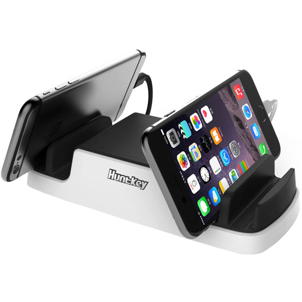 Image for HUNTKEY SMARTU 4-PORT 40W USB CHARGING DOCK BLACK/WHITE from OFFICE NATIONAL CANNING VALE, OFFICE TOOLS OPD & OMNIPLUS
