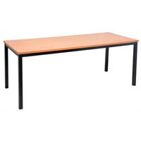 RAPIDLINE STEEL FRAME TABLE 1500 X 750MM BEECH