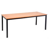 RAPIDLINE STEEL FRAME TABLE 1800 X 750MM BEECH
