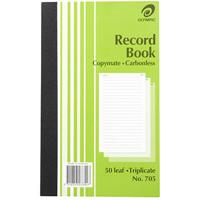 OLYMPIC 705 RECORD BOOK CARBONLESS TRIPLICATE 50 LEAF 200 X 125MM