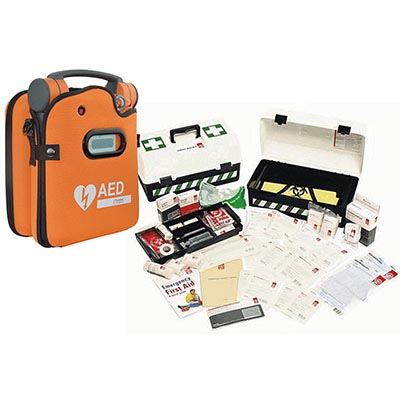 Image for ST JOHN CARDIAC SCIENCE POWERHEART G5 PLUS BONUS WORKPLACE FIRST AID KIT PORTABLE from PERTH METRO, CANNING VALE, OFFICE TOOLS OPD & OMNIPLUS