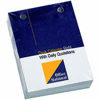 OFFICE NATIONAL 2020 DESK CALENDAR REFILL TOP PUNCH